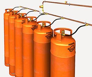 Instalação de Baterai de Gás GLP