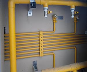 Instalação de gás natural GN
